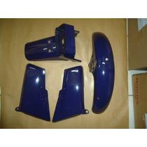 Kit Plasticos Cg 125 85 Azul (paralamas + Laterais)