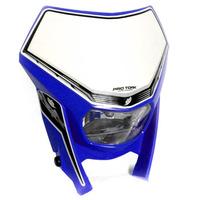 Farol Com Carenagem Azul Off Road Tork Universal + Brinde
