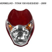 Carenagem Frontal + Farol Titan 150 Vermelho 2009