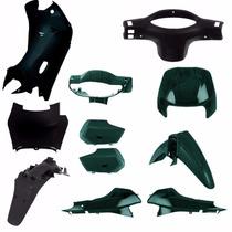 Kit Carenagem Completa P/ Biz 100 Ano 2000 - Verde Metalico