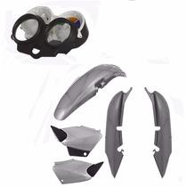 Kit Carenagem Plástico P/ Cg 125 Titan Ano 2002 2003 - Prata