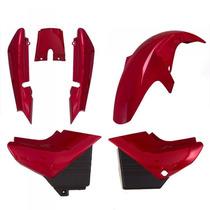 Kit Plástico Carenagem P/ Yamaha Ybr Ano 2007 2008 Vermelho