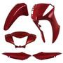 Kit Plástico Carenagem P/ Honda Biz 125 Ano 2013 - Vermelho