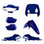 Kit Plásticos Carenagem Honda Biz 100 De 1998 A 2005 Azul