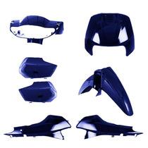 Kit Plástico Carenagem P/ Biz 100 Ano 2001 - Azul Metálico