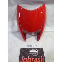 Moto 2445 Carenagem Farol Honda Nxr Bros 150 Vermelho Escuro