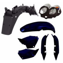 Kit Carenagem Plástico P/ Cg 125 Titan 125 Ano 2002 - Azul