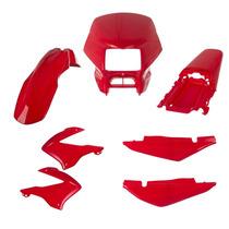 Kit Carenagem P/ Nxr Bros 125 150 Ano 2003 2004 - Vermelho