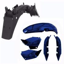 Kit Carenagem + Paralama Titan 125 2003 2004 Azul Perolizado