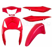 Kit Conjunto Carenagem Moto Honda Biz125 2006 Atè 2010 Verml