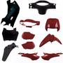 Kit Carenagem Completa P/ Biz 100 Ano 2000 2001 - Vermelho