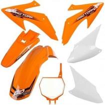 Kit Plasticos Roupa Crf 230 Protork + Number Plate Laranja