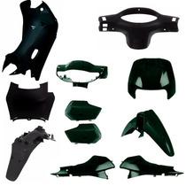Kit Carenagem Completa P/ Biz 100 Ano 2005 Verde Perolizado