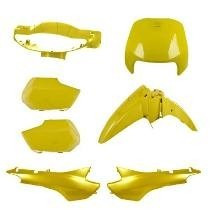 Kit Carenagem Honda Biz 100 Comp. Ano 98/99 Amarelo Melc