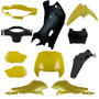 Kit Plásticos Carenagem Honda Biz 100 1998 A 2005 Amarelo