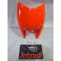 Moto 2447 Carenagem Farol Honda Nxr Bros 150 Laranja Escuro