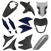 Kit Plásticos Carenagem Honda Xre300 Azul + Brinde