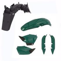 Kit Carenagem + Paralama Traseiro Titan Cg 125 2002 - Verde
