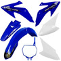 Kit Plasticos Roupa Crf 230 Protork + Number Plate Azul