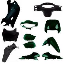 Kit Plastico Carenagem Completa P/ Biz 100 Ano 2002 Verde