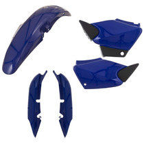 Kit Plástico Carenagem Honda Cg 125 Titan 2003 Á 2004 Azul
