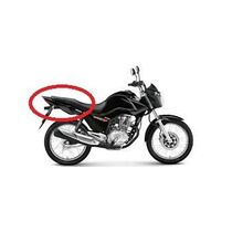 Kit Carenagem Rabeta Completo Honda Fan 150 Ex 2014/15 Preto