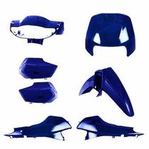 Kit Plásticos Carenagem Honda Biz 100 Azul De 1998 A 2005