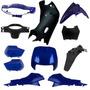 Kit Plásticos Carenagem Honda Biz 100 1998 A 2005 Azul