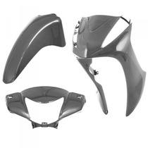 Kit Plástico Carenagem P/ Honda Biz 125 Ano 2012 - Prata