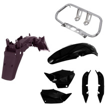 Kit Completo Para Honda Titan Cg 125 2000 A 2004 - Preto