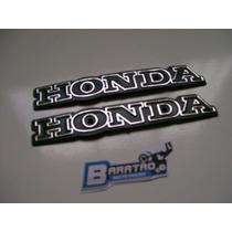 Par (2 Peças) Emblema Do Tanque Honda Cg Ml 125 Bolinha