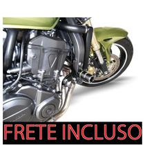 Slider Moto Hornet Com Amortecedor Mj Racing (frete Incluso)