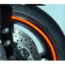 Friso Adesivo De Roda Refletivo P/ Moto E Carro + Brinde