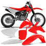 Kit Plasticos Crf230 Roupa Pro Tork + Number Plate Vermelho