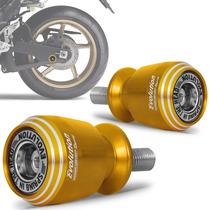 Slider Traseiro Universal Moto Racing Evolution Dourado M10