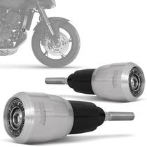 Slider Hornet Moto Honda Dianteiro Racing Evolution Prata