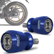 Slider Traseiro Racing Moto Universal Evolution M10 Azul