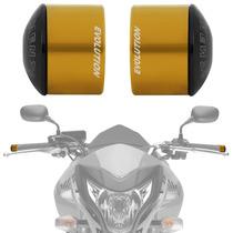 Peso Guidao Moto Universal Racing Dourado Curto Evolution