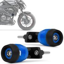 Slider Z800 2013 2014 Protetor Motor Kawasaki Azul Par Rsi