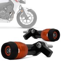 Slider Moto Cb 500f 2013 2014 Protetor Motor Laranja Rsi
