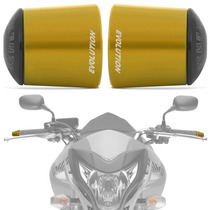 Peso Guidao Moto Universal Longo Racing Dourado Evolution
