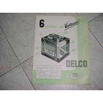 Folder Bateria Delco Anos 60 Chevrolet Gm Catalogo Original
