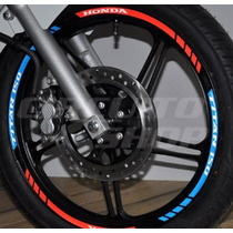 Friso Adesivo Refletivo Roda Tricolor Mod01 Moto Honda Titan