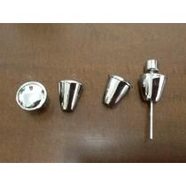 Botão Cromado Painel Fusca Antigo Jogo Aluminio