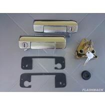 Kit Fiat 147 Maçanetas Portas/fechadura Porta Malas/batente