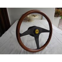 Volante Momo Em Madeira De Lei Made In Italy ( Fusca Porsche