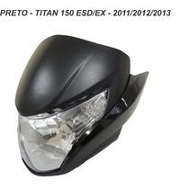 Carenagem Frontal+farol+laterais Titan 150 - Preto 2011 A 13