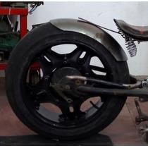 Paralama Artesanal Em Aço P/ Moto Chopper Bobber Pneu 200