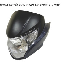 Carenagem Frontal+farol+laterais Titan 150 - Cinza 2012