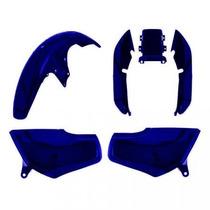 Kit Plástico Carenagem P/ Honda Titan Cg 125 Ano 1995 Azul